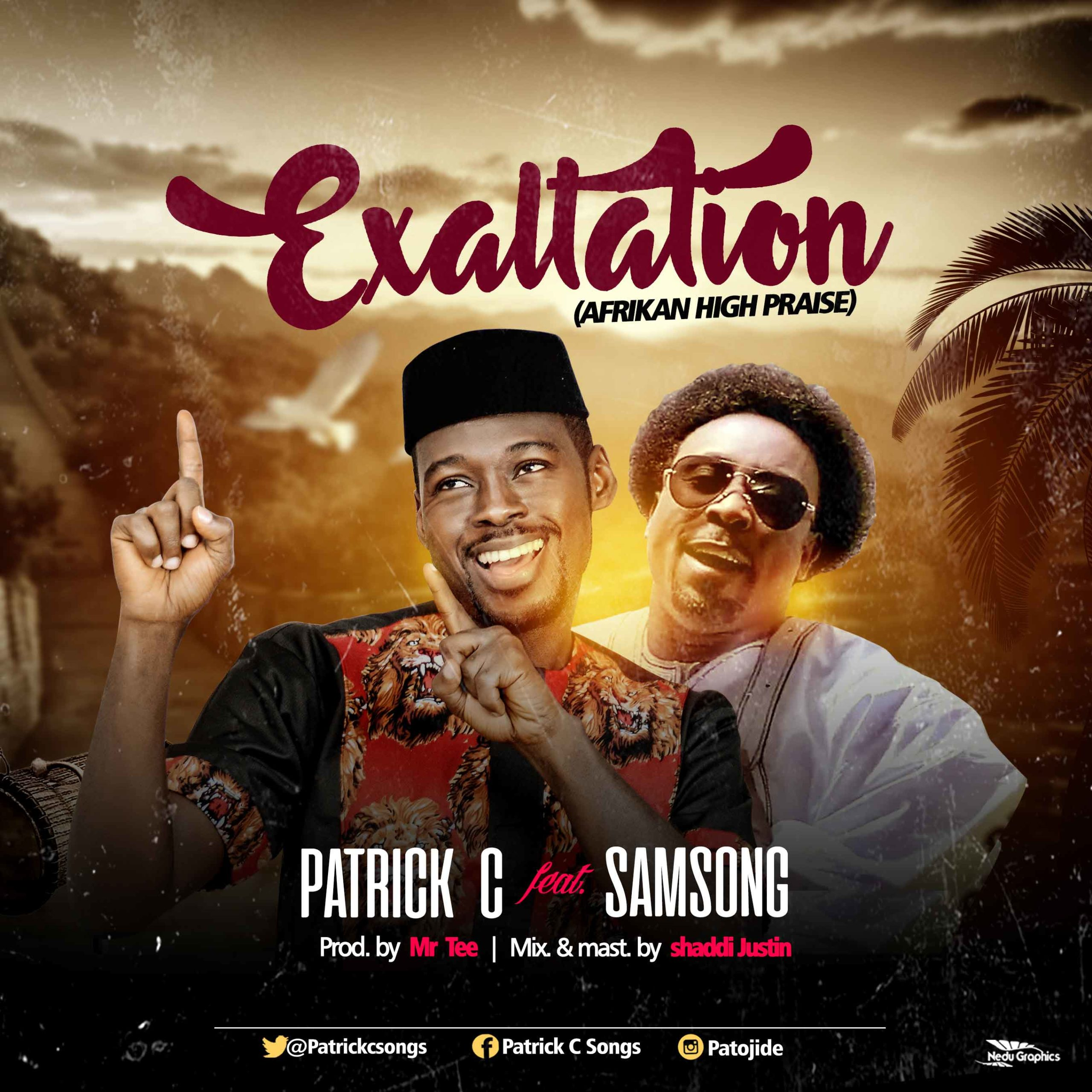 Patrick-C-Exalted-Featuring-Sam-Song-Cover-Design